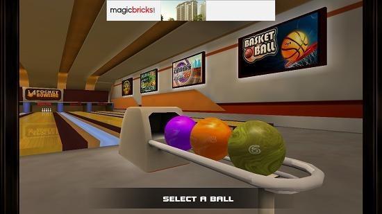 Pocket Bowling 3D change ball