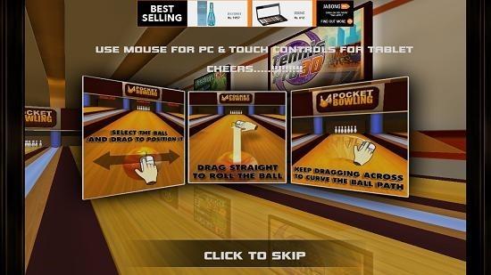 Pocket Bowling 3D controls