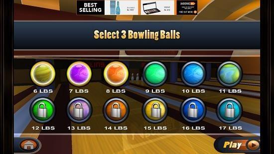Pocket Bowling 3D select ball