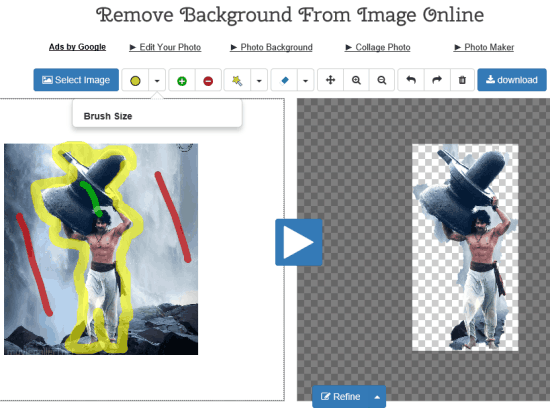 Remove Background From Image Online Tool