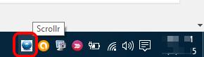 Scrollr system tray icon