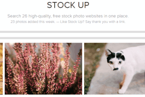 Stock Up website to find royalty free images