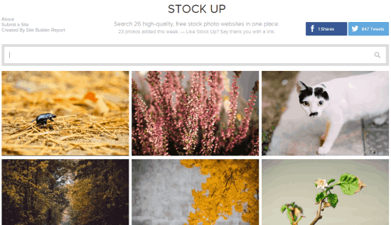 Stock Up- website to find stock photos