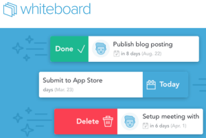 Whiteboard- website to create to do lists and manage