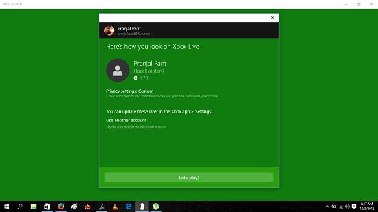 Xbox Avatars Main Screen