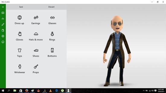 Xbox Avatars avatar choose what to change