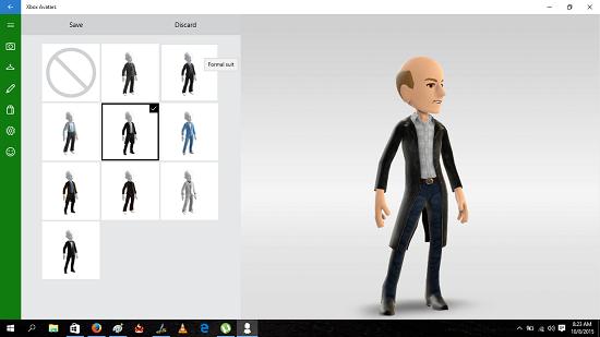 Xbox Avatars avatar chosen