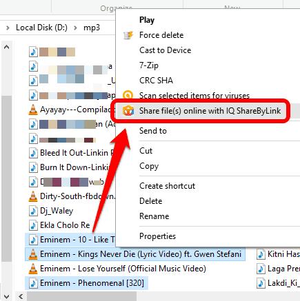access right click context menu