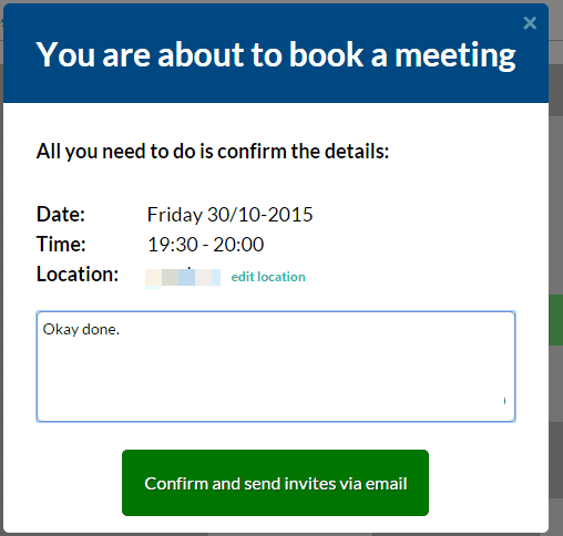 book the meeting