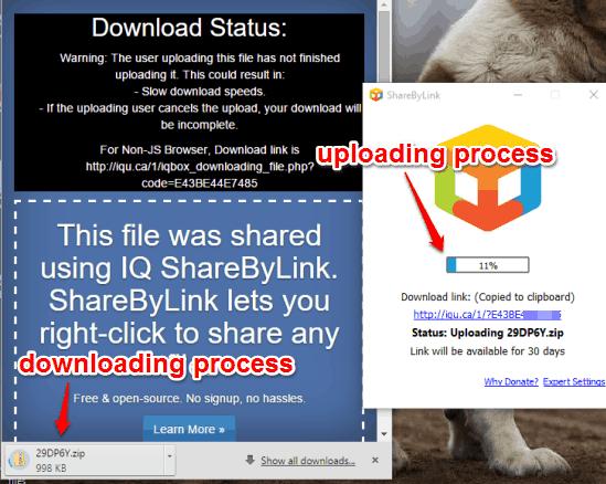 bulk share large files using right click menu