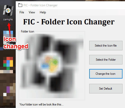 change folder icon