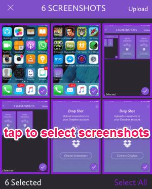 choose screenshots