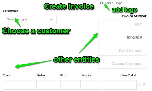 create a invoice