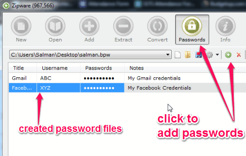 create a password file