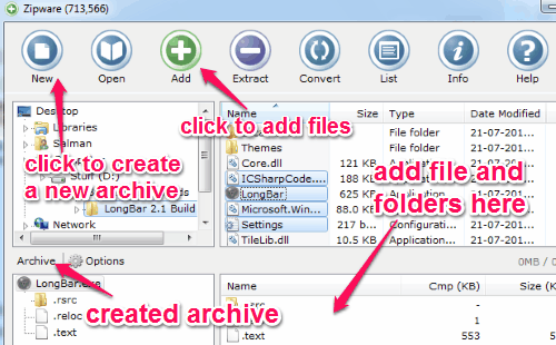 create an archive