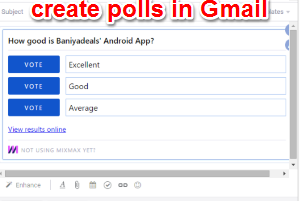 create polls in Gmail using Mixmax Chrome extension