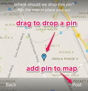 drop pin