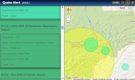 earthquake notification extensions google chrome 4