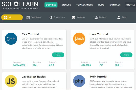 free website to learn programming, web designing, etc