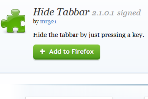 hide the tabs using a hotkey in Firefox