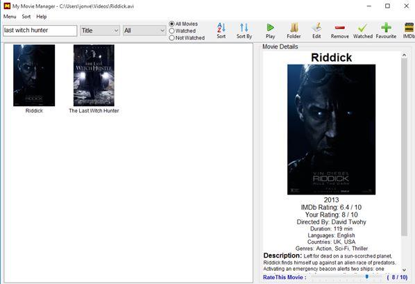 movie organizer software windows 10 3