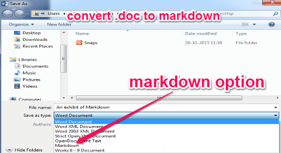 save md files