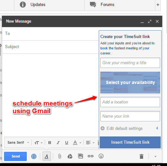 schedule meetings using your Gmail account