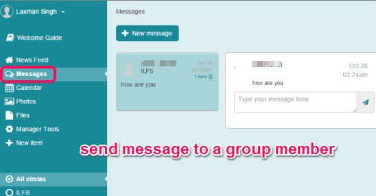 send message to a group member
