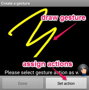 set gestures