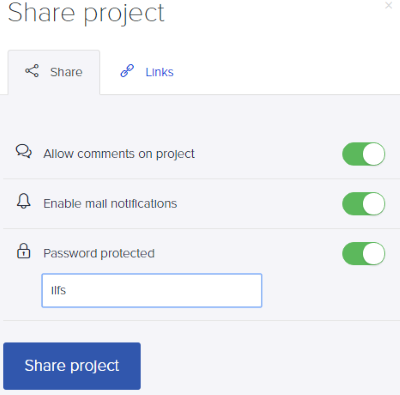 set permissions before sharing a project