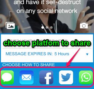share message