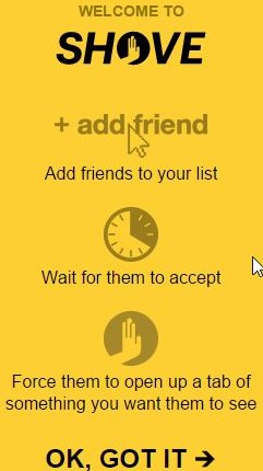 shove add friend