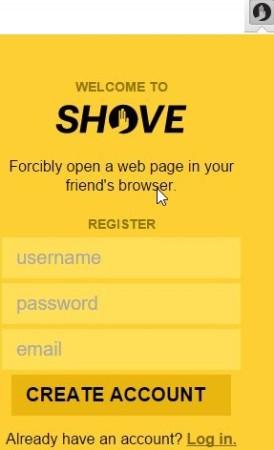 shove sign in