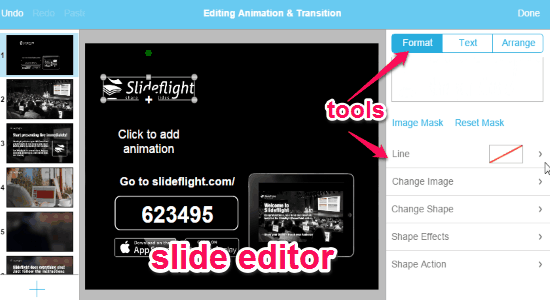 slide editor