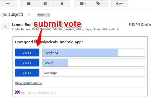 submit vote