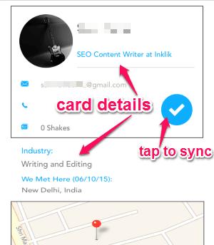 sync card