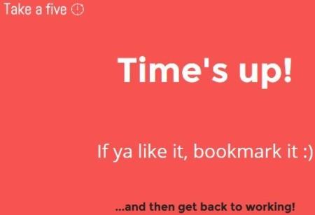 take a five timer up