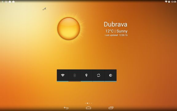 transparent weather widget apps android 5
