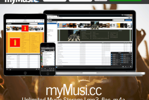 unlimited music storage website