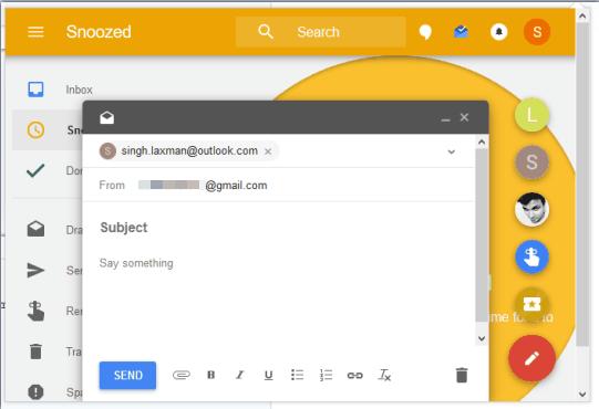 use Inbox in pop-up window