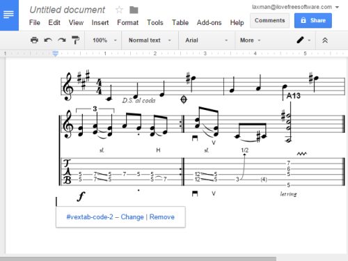 write and edit music in Google Docs