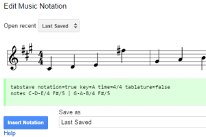 write music in Google Docs