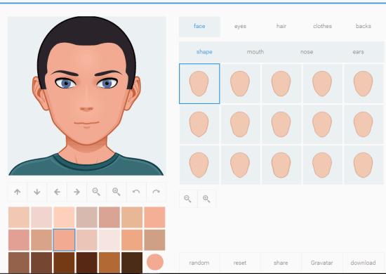 Avatar Maker website homepage