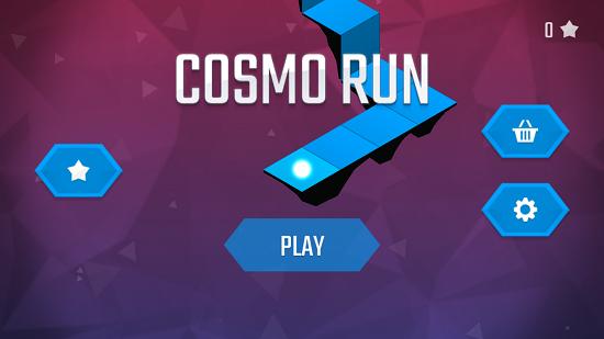 Cosmo run main screen