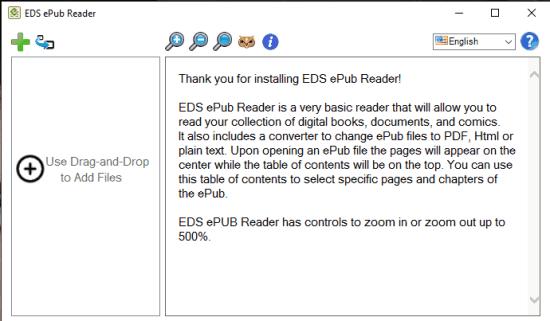 EDS ePub Reader- interface
