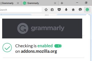 Grammarly add-on for Firefox