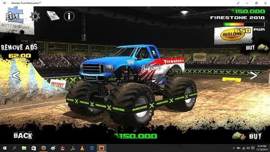 Monster Truck Destruction main screen