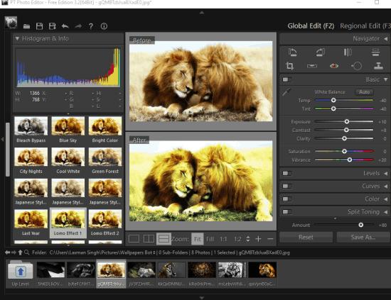 PT Photo Editor- interface