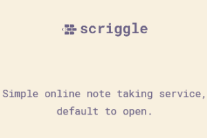 Scriggle- online note taking service