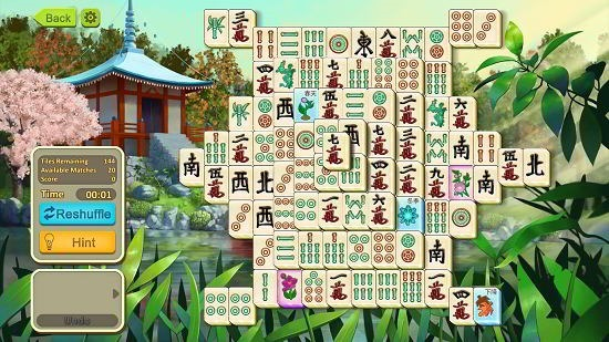 Simple Mahjong gameplay started